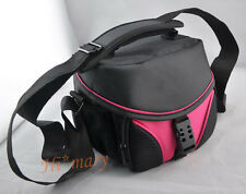 Digital SLR Camera pink Bag Case For Nikon D90 D3100 D7000 D5200 D3200 D5100 xf