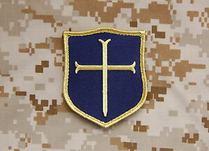 5a87ce3a1cb Crusader Shield Patch Blue   Gold NSWDG DEVGRU Gold Squadron Team St6 Navy  Seal