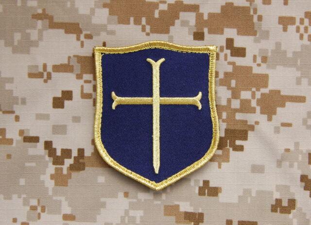 Crusader Shield Patch Blue & Gold NSWDG DEVGRU Gold Squadron Team St6 Navy  Seal