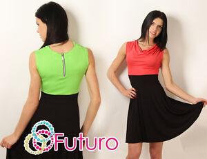 Classic-amp-Sensible-Women-039-s-Dress-Cowl-Neck-Sleeveless-Tunic-Sizes-8-12-8969