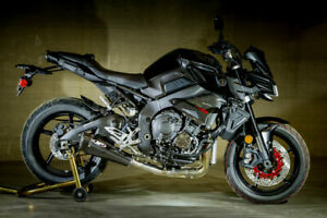 M4-Exhaust-Slip-On-with-Decat-Carbon-Silencer-Yamaha-MT-10-FZ-10-2016-2020-Race