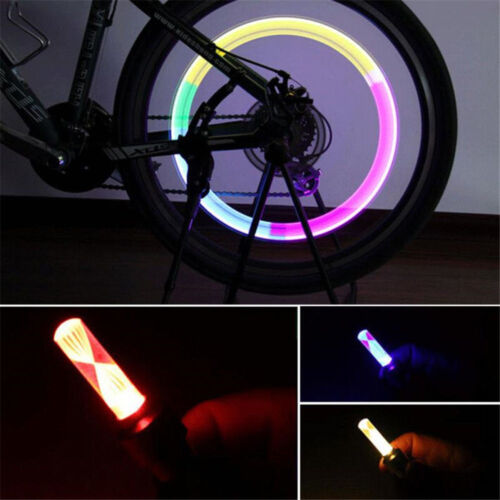 2pcs Bicycle Motorcycle Bike Tyre Tire Wheel Valve 7Color LED Flash Light Lamp