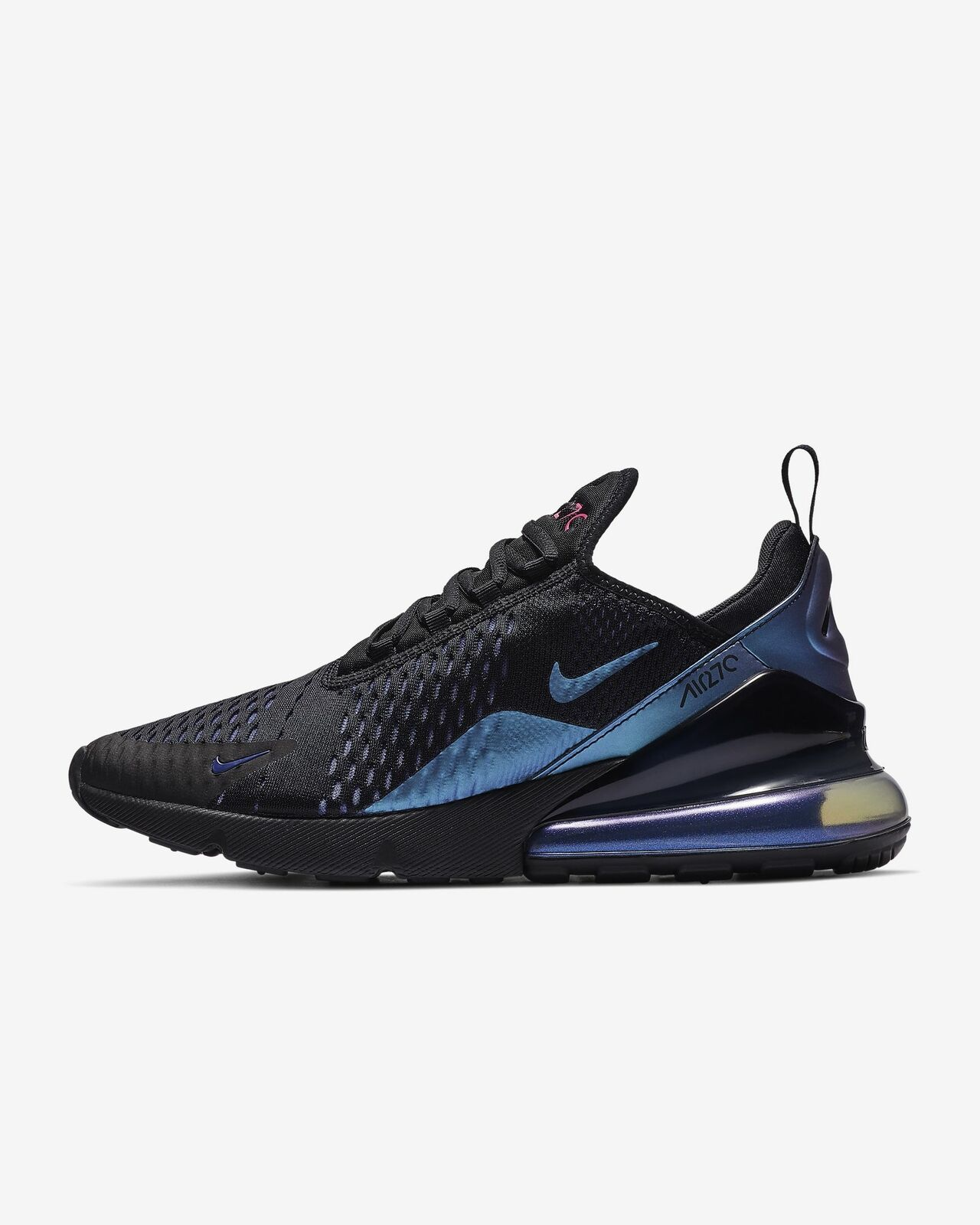 0e35653a9d NIKE AIR MAX 270 AH8050-020 BLACK LASER FUCHSIA REGENCY PURPLE THROWBACK  FUTURE