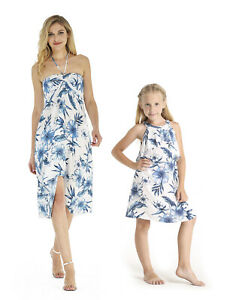 c54f03491235 Image is loading Hawaii-Hangover-Mother-Daughter-Matching-Luau -Party-Dresses-