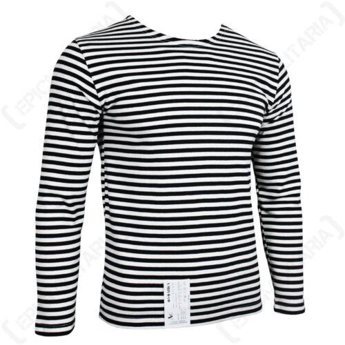 100/% Cotton Striped Long Sleeved T-Shirt New Genuine Russian Marine Telnyashka