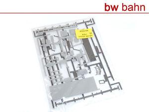 Kibri-H0-Bausatz-4100-25-Dachzubehoer-Vordach-Treppe-Gelaender-grau-Neu