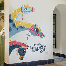 Retro Horse Removable Decal Dinning Room Window Door Mural Wall Stickers Decor