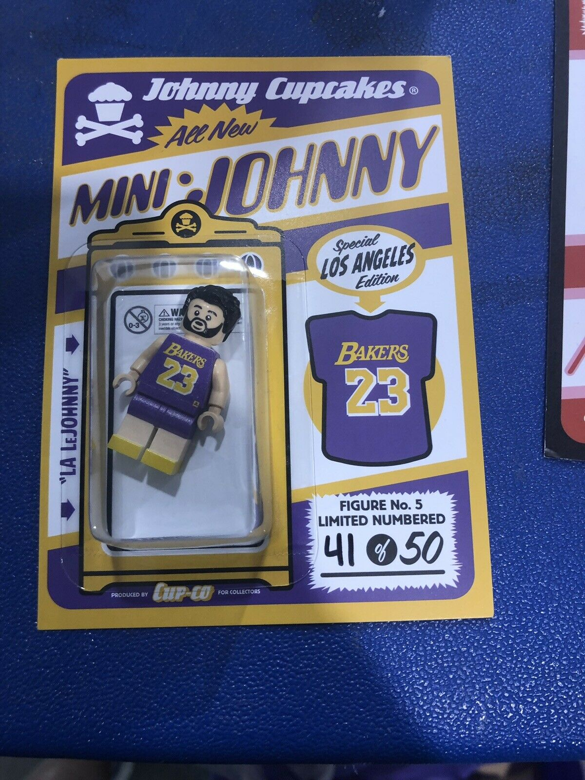 Dcon 2019 Johnny Cupcakes Mini Johnny Lakers Lego Figure   41 50 Designer Con