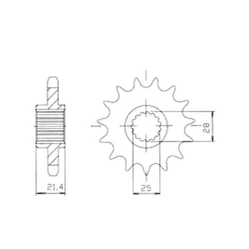 08-16 RA DID Kettensatz Aprilia Shiver 750 //GT NIETSCHLOSS extra verstärkt