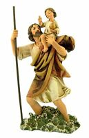 Catholic Patron Saint Christopher The Christ Bearer Resin Statue, 6 Inch, on Sale