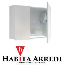 Pensile Scolapiatti Mobile per Cucina 75 cm Bianco Due Ante Personalizzabile