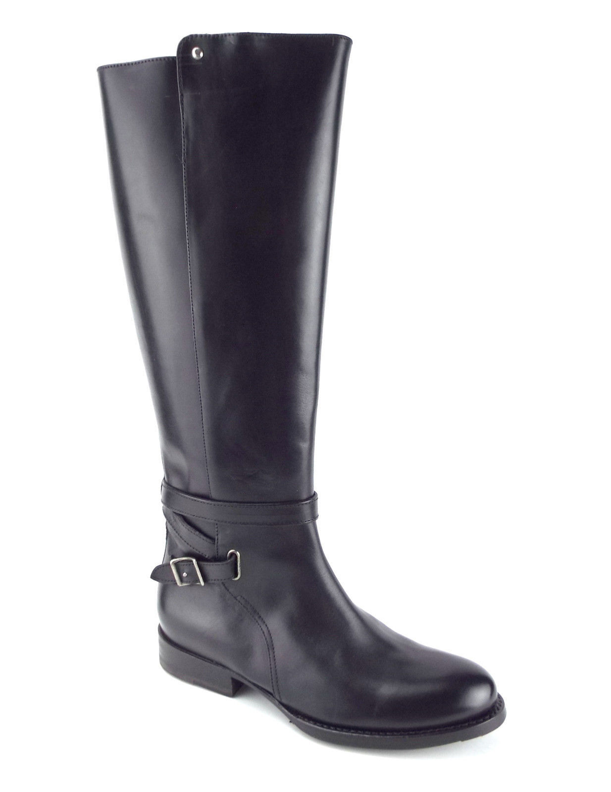 New FRYE Size 7 JORDAN BUCKLE Black Leather Riding Style Boots