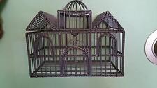 Vtg. Victorian Manor Steel Wire Bird Cage/Plant,Flower Terraium