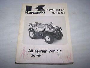 used kawasaki bayou 400 klf 400 service manual 99924 1154 03 ebay rh ebay com