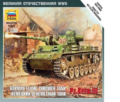 Zvezda 6162-1//100 Wargame Addon Dt Neu Pzkpfw III Flammenwerfer Panzer