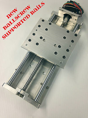 """CNC Z axis Slide 7.75"""" travel ROUTER PLASMA ballscrew supported rails automation"""