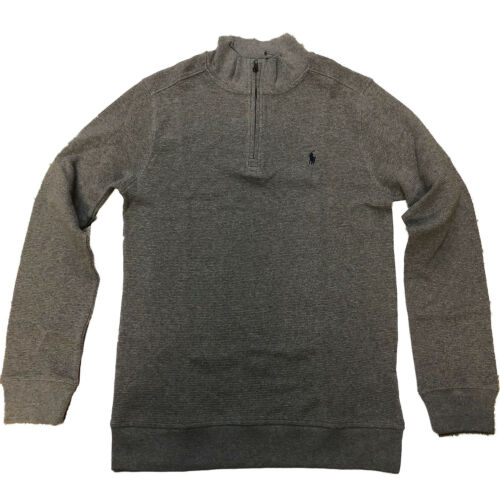 18-20 Ralph Lauren Boys Waffle Knit Cotton Pullover Grey X-Large