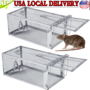 1-2Pcs-Rat-Trap-Cage-Live-Animal-Pest-Rodent-Mouse-Control-Catch-Hunting-Trap
