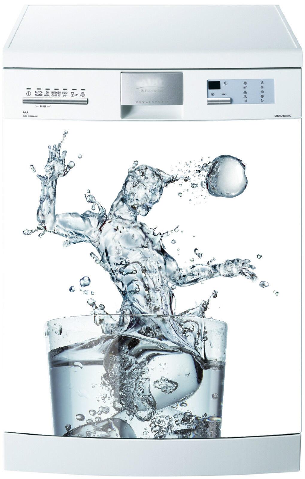Adhesivo Lavavajillas Decoración Cocina Electrodomésticos Vaso de Agua Ref 674
