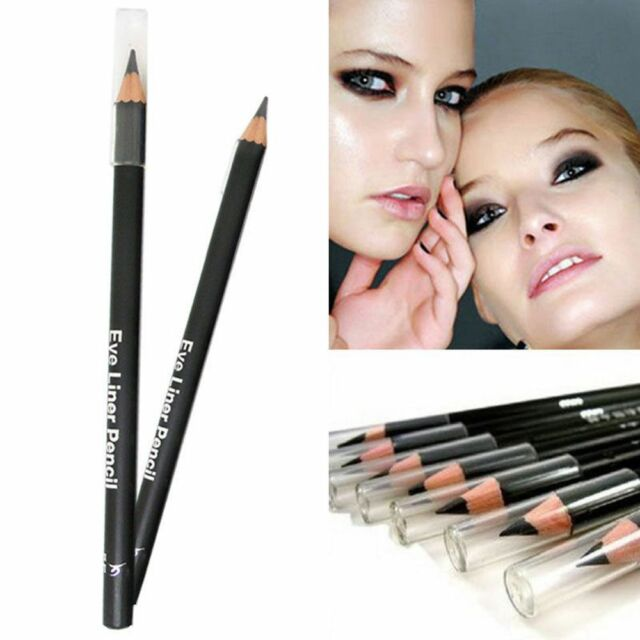 2Pcs Smooth Cosmetic Black Long-Lasting Waterproof Eyeliner Pencil