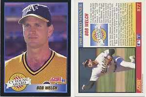 Details About Lot Of 12 Bob Welch Cy Young Award Winner Score 91 877 Mlb Baseball Cards Nmm