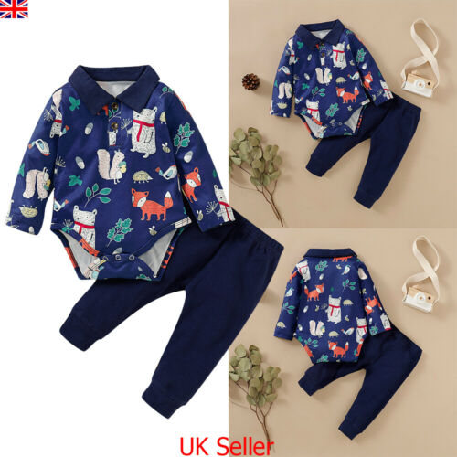 Baby Boys Outfits Animal Romper Tops Jumpsuit Pants Newborn Toddler Clothes Set