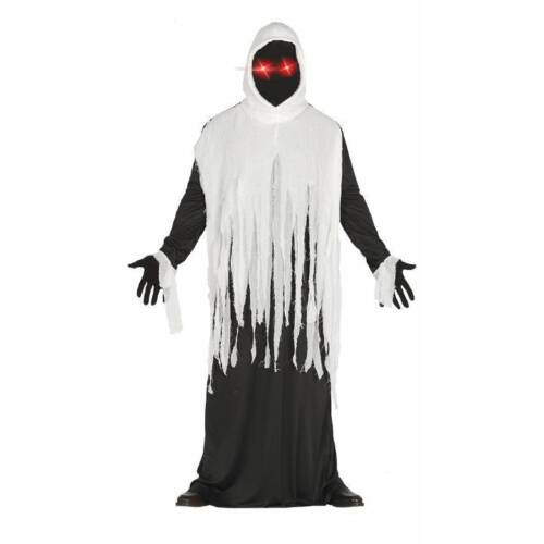 Light Up Eyes Druid Ghost Ghoul Phantom Halloween Fancy Dress Costume