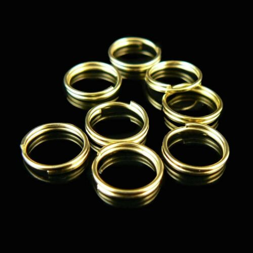 9mm gold or nickel plated split ring// key ring// key chain ring 500 pcs WHOLESAL