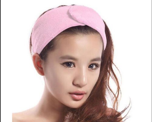 Adjustable Soft Towelling Hair Turban Head Band for Wash Face Make Up Salon Spa