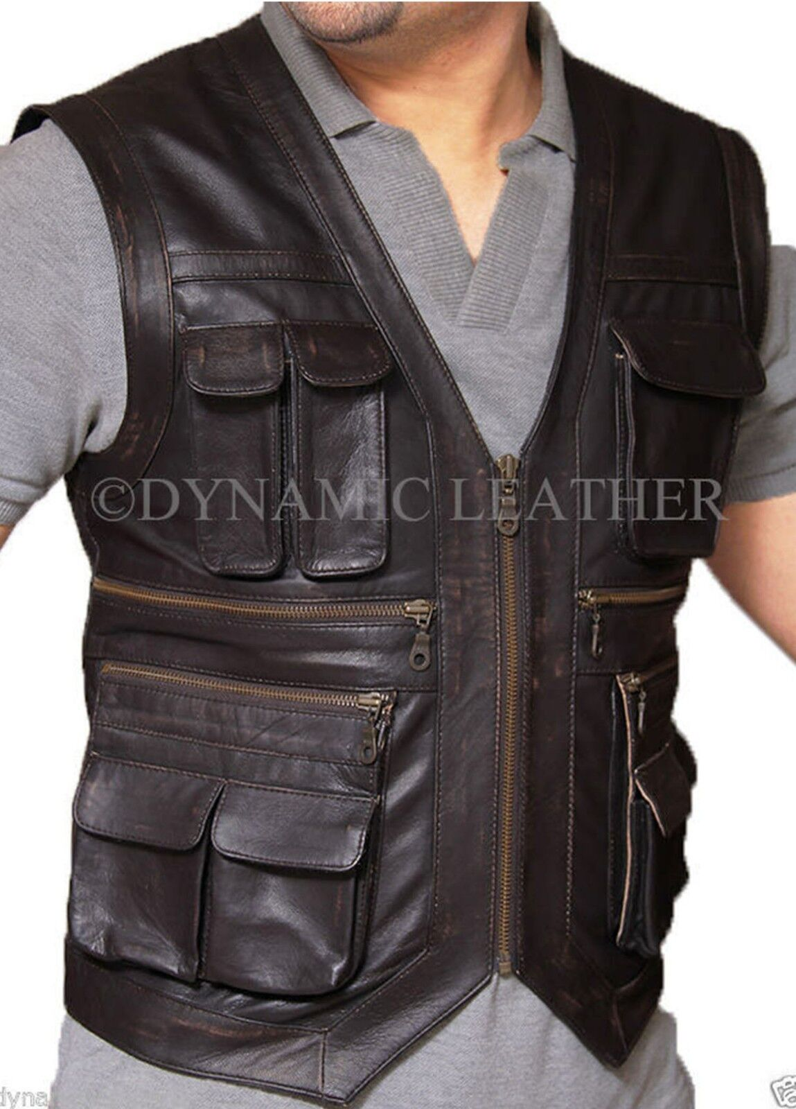 Jurassic World Owen Grady Real Leather Vest - ALL SIZES AVAILABLE