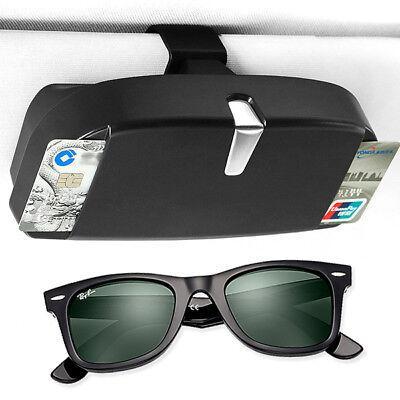 beige Irfora Car Visor Sunglasses Case Eyeglasses Holder Protective Box Eye Glasses Organizer