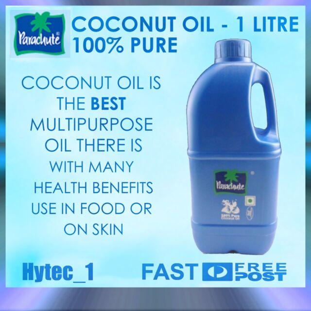 Parachute - 100% Pure Coconut Oil - 1 Litre -  Best Multipurpose oil