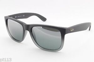 08fb9d16e79f6 NEW RAY-BAN JUSTIN 4165 852 88 55mm Rubber Sunglasses Authentic Made ...