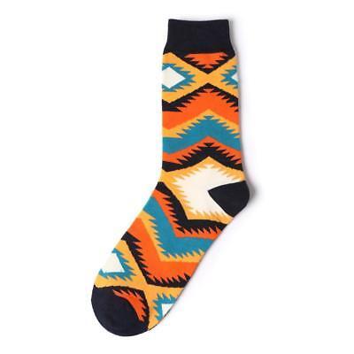 Herren Baumwolle Happy Socks Warm Gradient Bunte Diamant Freizeit Kleid Socken
