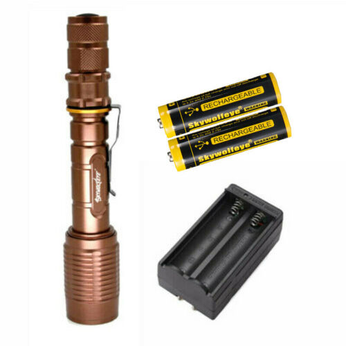 Details about  /NEW Tactical 350000 Lumens 5-Modes  LED Flashlight  Aluminum Zoom Torch Lot