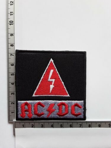 AC//DC AUSTRALIAN HEAVY METAL ROCK MUSIC BAND QUALITY EMBROIDERED PATCH UK SELLER