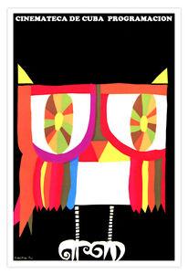 "Spanish movie Poster""LECHUZA<wbr/>.Owl.Buho""Rain<wbr/>bow colors.Colorfu<wbr/>l Art.Home Decor"