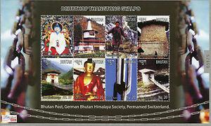 Bhutan-2015-MNH-Drubthop-Thangtong-Gyalpo-8v-M-S-Architecture-Bridges-Buddha