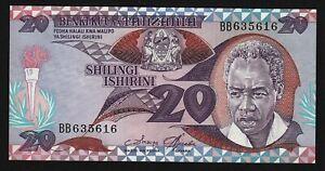 1985-Tanzania-20-Shilingi-crisp-uncirculated-P-9-Benki-Kuu-ya-Tanzania