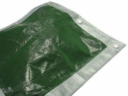 NEW 43404B 5.4 X 3.6m 18 X 12ft Tarpaulin Green Silver Multi Item Packag UK FAS