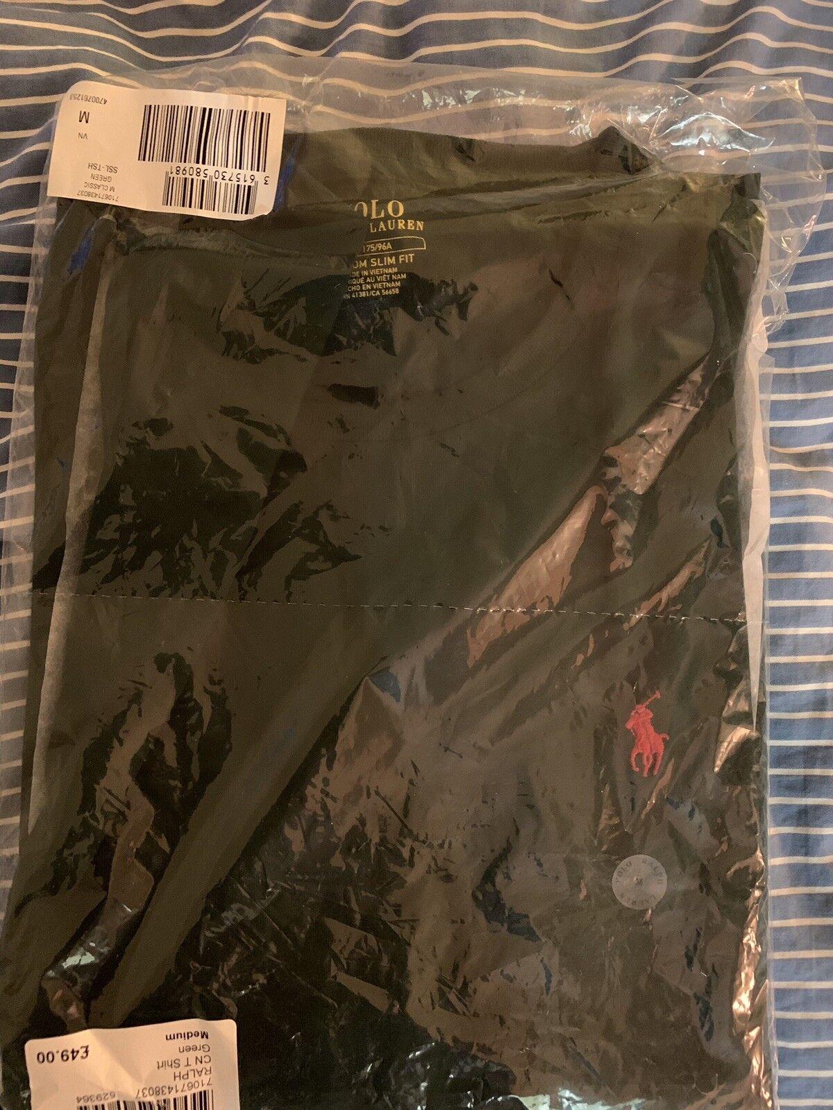 Ralph Lauren T-Shirt - College Green - Medium