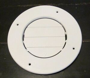 Rv Round Ac Ceiling Vent White Open Close Adjustable
