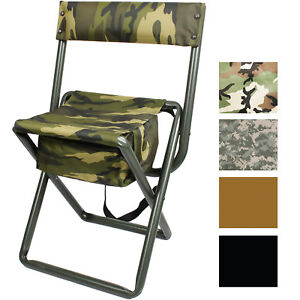 Awe Inspiring Details About Deluxe Folding Stool With Seat Pouch Travel Chair Camo Military Camping Outdoor Inzonedesignstudio Interior Chair Design Inzonedesignstudiocom