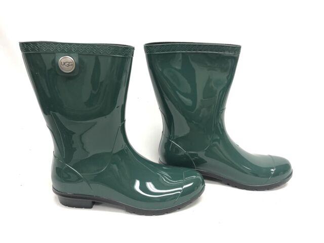 a0f291bc200 Ugg Australia Sienna Womens Boots Rain Rubber Boots Pine Green 1014452  Rainboots