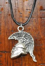 Roman Empire Ancient Greek Spartan Warrior Mohawk Helmet Pendant Charm Necklace