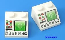 LEGO stampati Ferrovia /Nave / Pc Radar Computer / 2 Pezzi