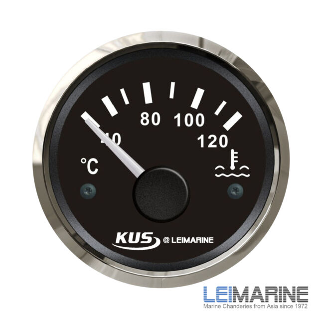 KUS Water Temp Gauge Temperature  Electrical Car Truck Boat 12V/24V 40-120°C New
