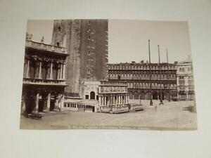 NAYA-VENISE-VENEZIA-1870-Loggetta-e-Procuratie-Vecchie-VINTAGE-Albumen-Print