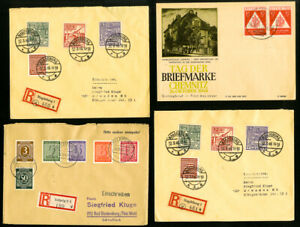 Germany-Stamps-Lot-of-13-1920s-to-1940s-Covers