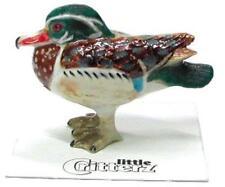 "Little Critterz Miniature Porcelain Animal Figure Wood Duck ""Bob"" LC554"